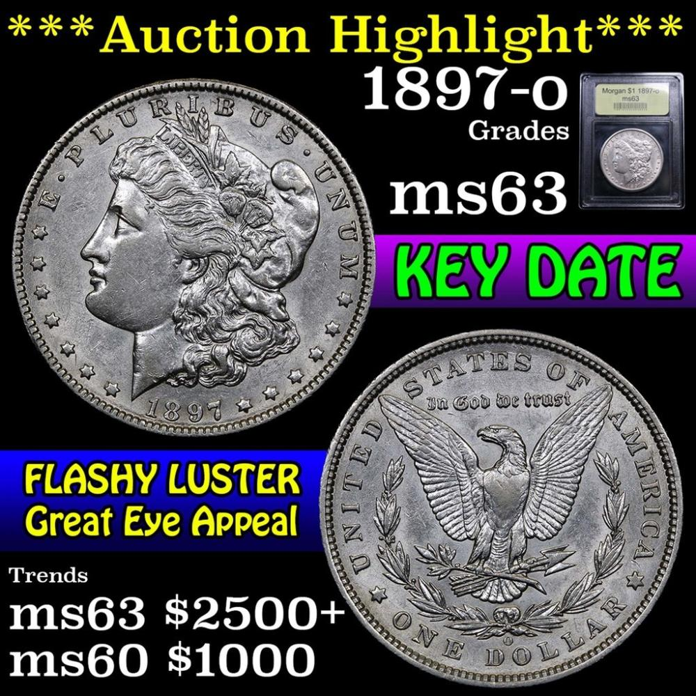***Auction Highlight*** 1897-o Morgan Dollar $1 Graded Select Unc by USCG (fc)