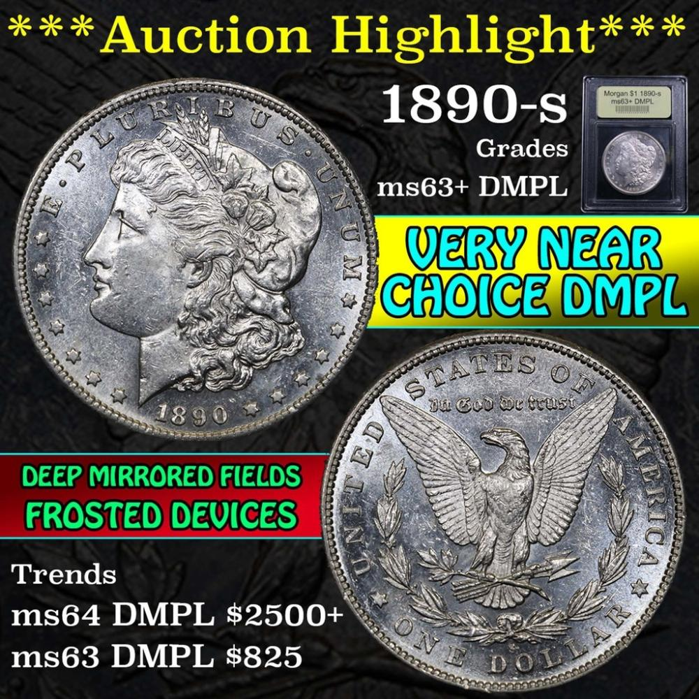 ***Auction Highlight*** 1890-s Morgan Dollar $1 Graded Select Unc+ DMPL by USCG (fc)
