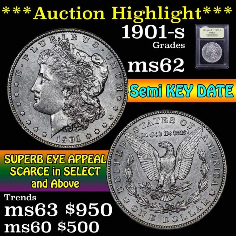 ***Auction Highlight*** 1901-s Morgan Dollar $1 Graded Select Unc by USCG (fc)