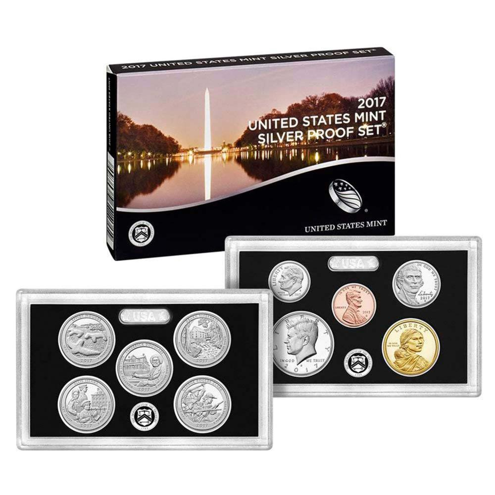 2017 United States Mint Silver Proof Set - 14 pc set, about 1 1/2 ounces of pure silver