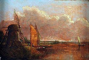 ANTHONY SANDYS (1806-1883) Oil on Board River