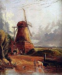 ANTHONY SANDYS (1806-1883) Oil on Panel Figures,