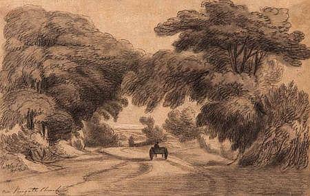 DR THOMAS MUNRO (1759-1833, BRITISH) Charcoal