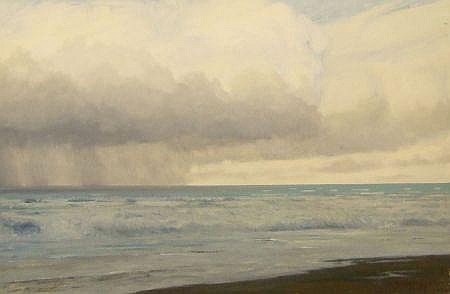 JOHN FOULGER, SIGNED, OIL, Open Seascape, 24