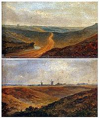 OBADIAH SHORT (1803-1886) Pair of Oils on Panel