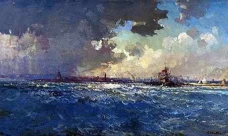 GEOFFREY CHATTEN (BORN 1938, BRITISH) Signed Oil