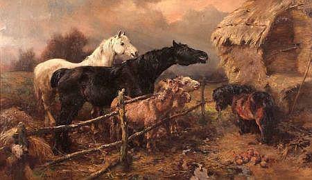 ALFRED WILLIAM STRUTT (1856-1924, BRITISH) Signed