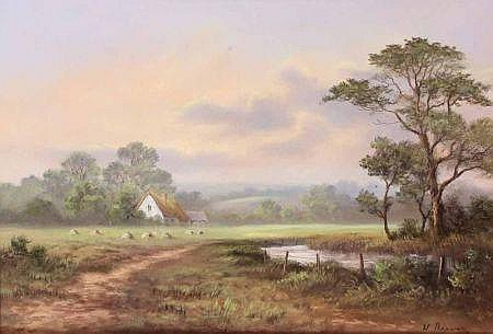WENDY REEVES, SIGNED PASTEL, Rural Landscape with