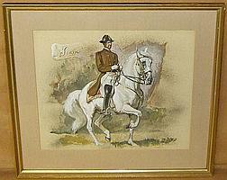 ALFONS PURTSCHER (AUSTRIAN), SIGNED WATERCOLOUR,