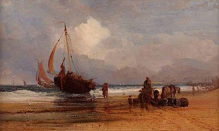 THOMAS LOUND (1802-1861, BRITISH) Oil on Panel