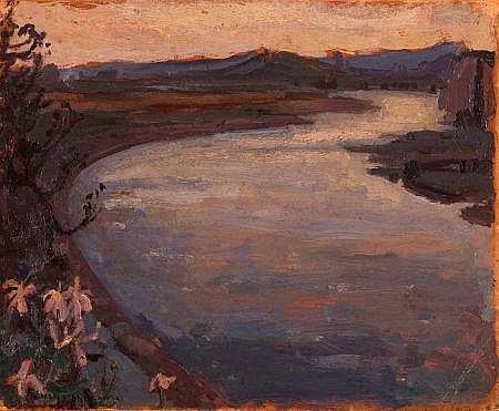 JAN STANISLAWSKI (1860-1907, POLISH) Signed Oil on