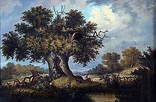 OBADIAH SHORT (1803-1886, BRITISH) Oil on Canvas