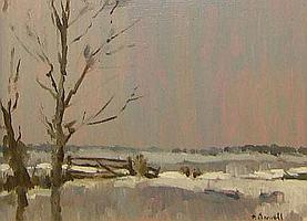 PATRICK BOSWELL, SIGNED, OIL, Inscribed verso