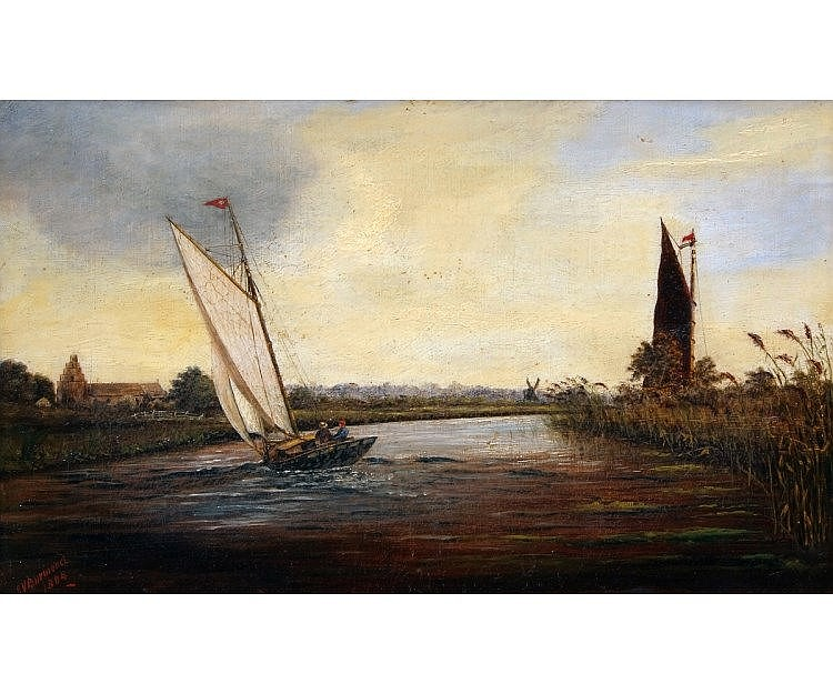 GEORGE VEMPLEY BURWOOD (1844-1917, BRITISH)  Sai