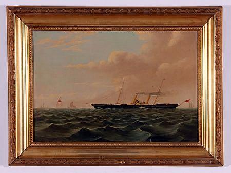 J F ARGENT (19TH CENTURY, BRITISH) Steam Boat at