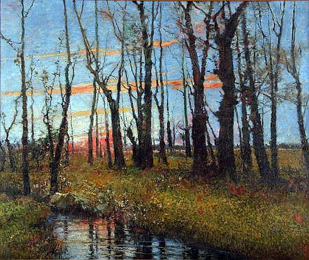 CESARE BENTIVOGLIO (1868-1952, ITALIAN) Signed Oil