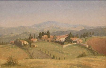 ANNA HORNBY, OIL, Continental Landscape, 11