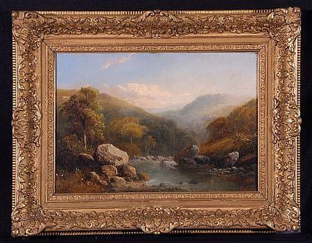 TOM SEYMOUR (1844-1904, BRITISH) MOUNTAIN RIVER
