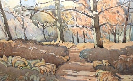 CLIFFORD CULPIN, SIGNED, WATERCOLOUR, Inscribed