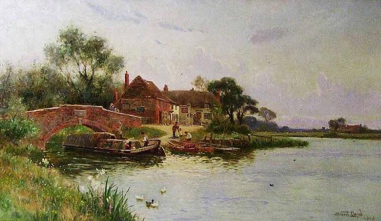 Stuart Lloyd, 'The George and Dragon Inn', oil on