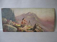 HENRI MOREAU (1869-1943) French, oil on wood panel