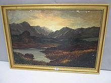 Late C19th oil on canvas 'Scene in The Highlands'