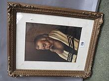 Gilt framed oil painting portrait of a Rabbi Elder