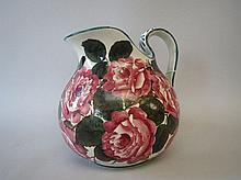 Wemyss Old English rose pattern jug 25.5H