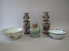 C18th Chinese famille rose porcelain punch bowl,