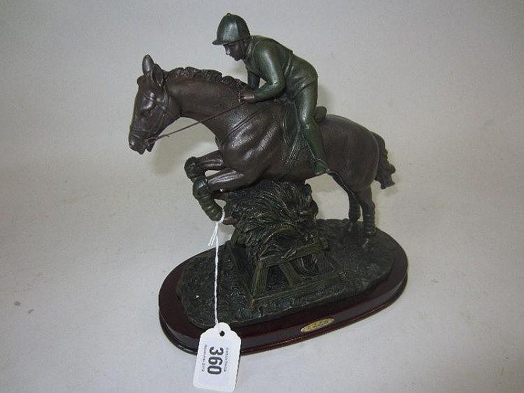 Modern bronze resin model of an Eventer