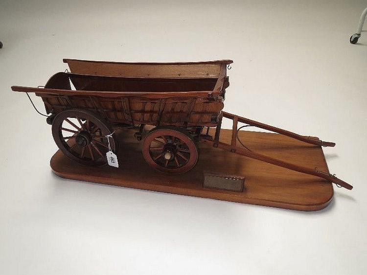 Modern well built wooden model of a Dorset Hay
