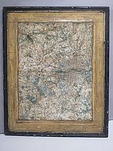 Antique framed map of Middlesex