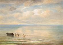 Fishermen at Lake Blaton, late 19th century