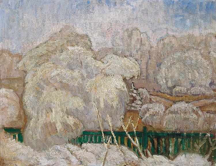 Iványi Grünwald Béla 1867-1940 Winter Landscape,
