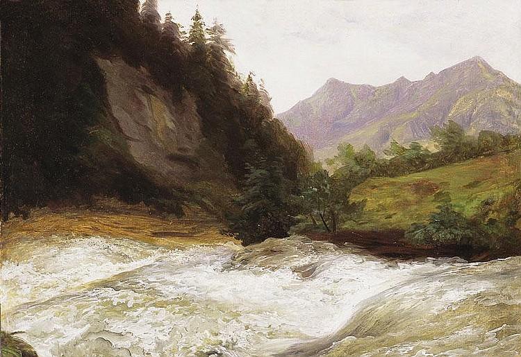 Brodszky Sándor 1819-1901 Rippling Steram 35×40 cm
