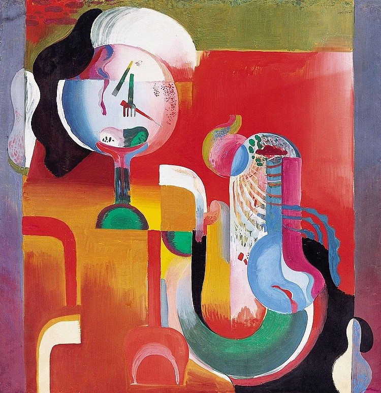 Hincz Gyula 1904-1986 Abstract Still Life, 1928