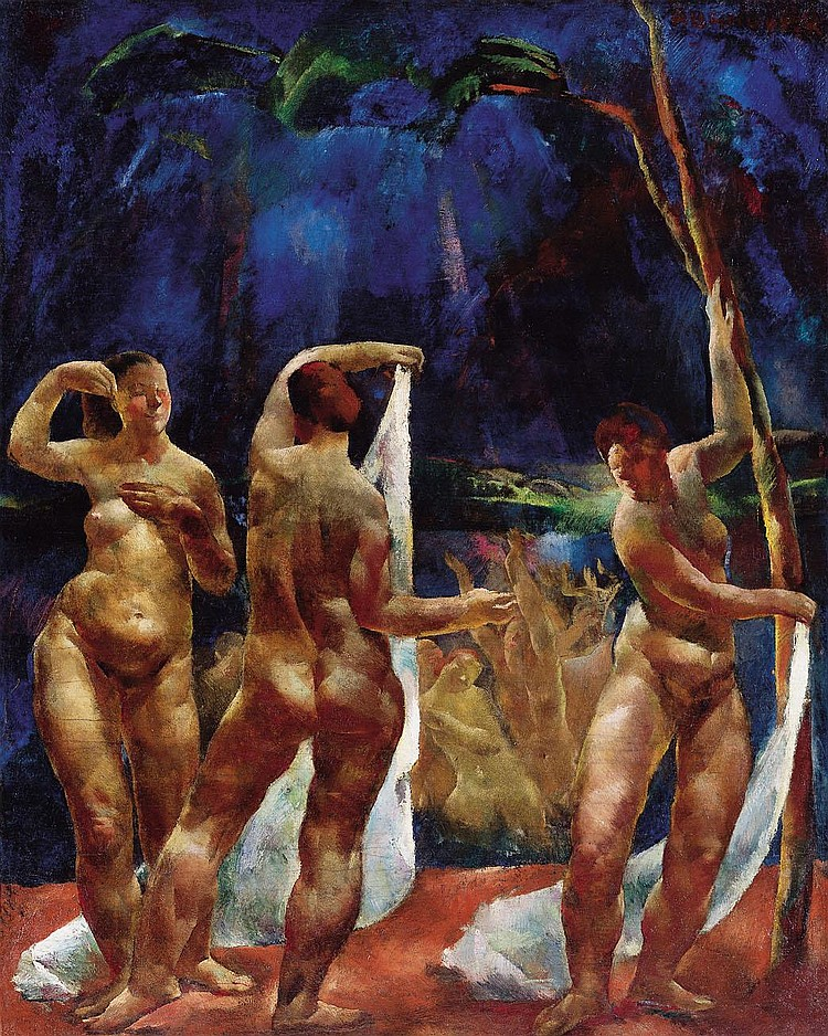 Aba-Novák Vilmos 1894-1941 Bathers (Female Nudes),