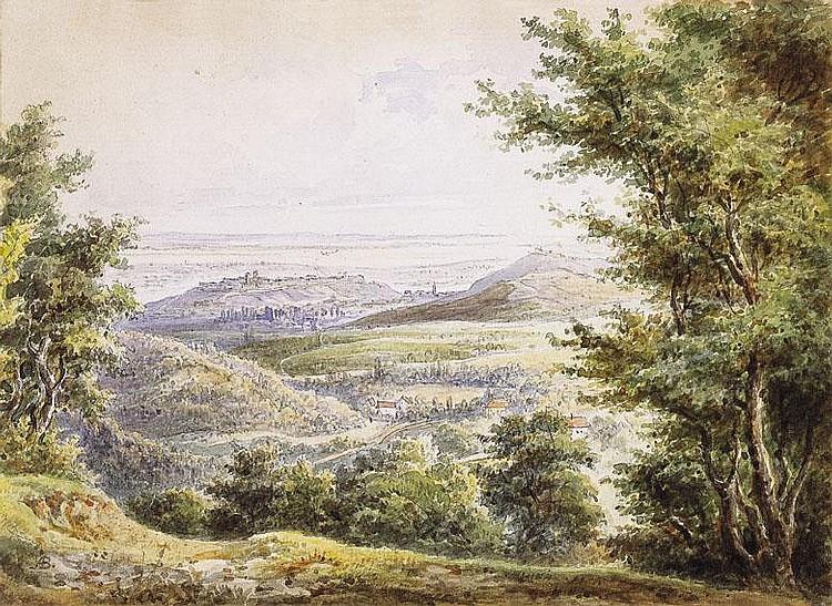 Brodszky Sándor 1819-1901 View of Buda 20,5×15 cm
