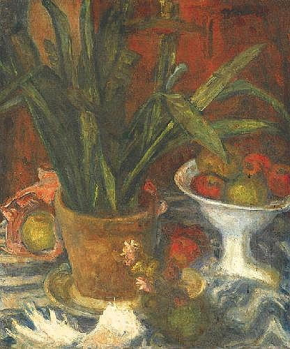 Gráber Margit 1895-1993 Still-life with Fruit-dish