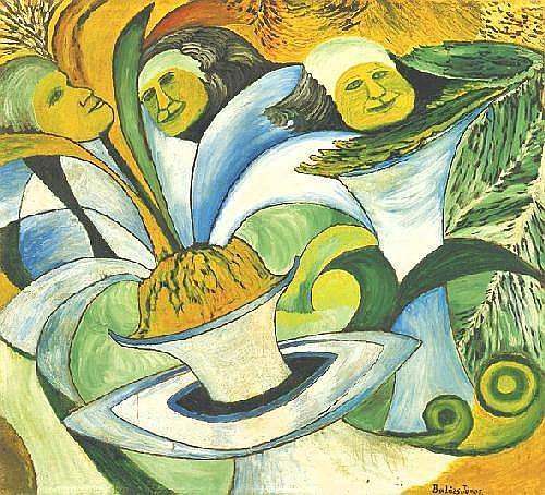 Balázs János 1905-1977 Geyser 66×75 cm oil on
