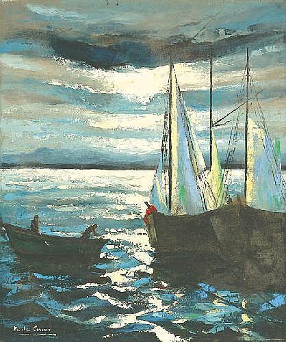 Corini Margit 1897-1982 Sailing Boats 59,5×46,5 cm