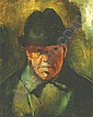 Szonyi István 1894-1960 Man Wearing a Green Hat, Istvan Szonyi, Click for value