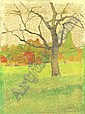 Farkas Béla 1895-1941 Landscape with Tree, 1910s