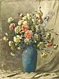 Henczné Deák Adrienn 1890-1956 Carnations in Blue, Adrienne Henczne Deak, Click for value