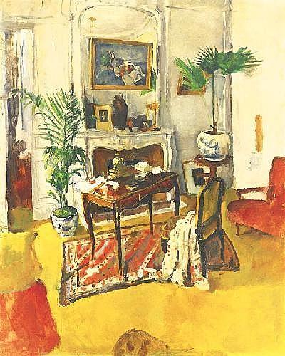Hatvany Ferenc 1881-1978 Salon 161×131 cm oil on