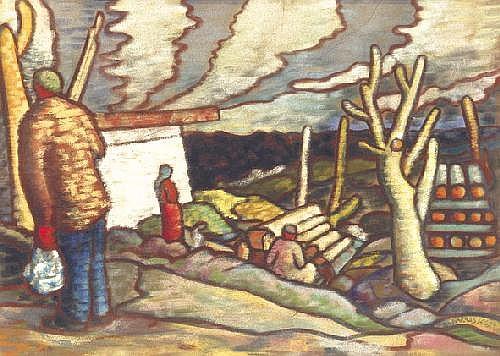Farkasházy Miklós 1895-1961 Landscape with Clouds