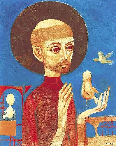 Kass János 1927- Saint Francis of Assisi Preaches