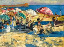French Seaside (Cote d'Azur), 1924