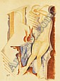 Kádár Béla: 1877 - 1956: Nude with vase: 62×47 cm:, Béla Kádár, Click for value