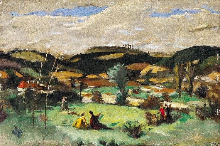 Fényes Adolf: 1867 - 1945: Hikers in the open-air: